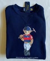 Polo Ralph Lauren Men's Polo Rugby Bear Fleece Crewneck Sweatshirt, Navy, L - $128.69