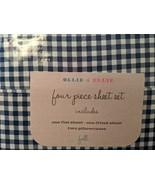 Ollie & Ellie Navy White Gingham Check Sheet Set Full - $45.00