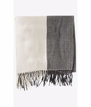 New $50 Express Women's oversized Colorblock blanket scarf ivory gray - $13.49