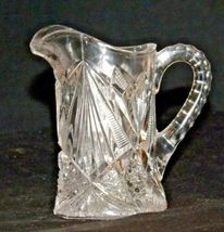 Etched glass candy dish and miniature pitcher AA19-LD11941 Vintage 2 pieces image 7