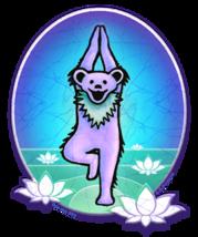 Yoga Dancing Bear Grateful Dead  Sticker Deadhead  Car Decal  - $5.49