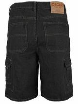 Men's Premium Cotton Multi Pocket Relaxed Fit Stonewash Denim Jean Cargo Shorts image 8