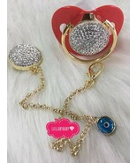 Cushion crystal pacifier and clip - $60.00
