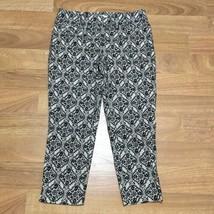 Ann Taylor Loft Marisa The Riviera Pants Womens Size 8 Black Cream - $16.44