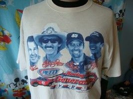 Vintage Richard Petty Generations Nascar Racing T Shirt XL  - $24.74
