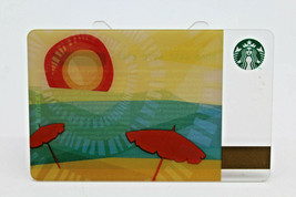 Starbucks Coffee 2011 Gift Card Summer Sunshine Umbrella Zero Balance No... - $11.27