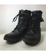 UGG Women's Black Kesey Waterproof Combat Boots - $60.99