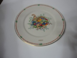 1995 Lenox Collector Plate Americas Bounty Annual Thanksgiving 2ND In Series - $24.30