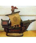 Ceramic Sailing Ship Lamp Art Deco Night Light - $69.99