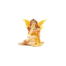 Shimmer Orange Fairy, Sitting Fairy with Glittery Ball, Birthday/Get Well Gift - $6.99