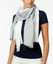 Calvin Klein Dip Dye Logo Wrap & Scarf in One (Grey) - $36.94