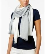 Calvin Klein Dip Dye Logo Wrap & Scarf in One (Grey) - $36.94