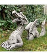 Large Dragon Gothic, Dwarf Miniature, Garden supplies, Figurines, Gnome - $27.30