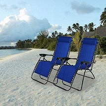 Chairs loungers Garden Beach Yard Blue Set Outdoor Courtyard Pillow Sand... - $147.20