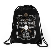 Aged 52 Years Vintage Dude Drawstring Bags - $30.00