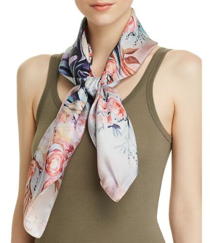 Primary image for Echo Tulip Print Silk Scarf (One Size, Light Beige)