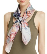 Echo Tulip Print Silk Scarf (One Size, Light Beige) - $54.99