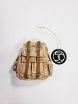"Department 56 Forest Favorites Realistic Beige Backpack Hanging Tree Ornament 3"" - $9.98"