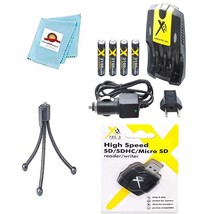 aa charger 110/240v + 4 batteries + card reader + tripod for canon nb4-3... - $40.99