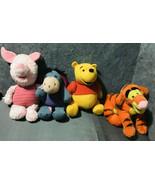 Disney Store Winnie The Pooh & Friends Stuffed Plush Lot of 4 - $64.35