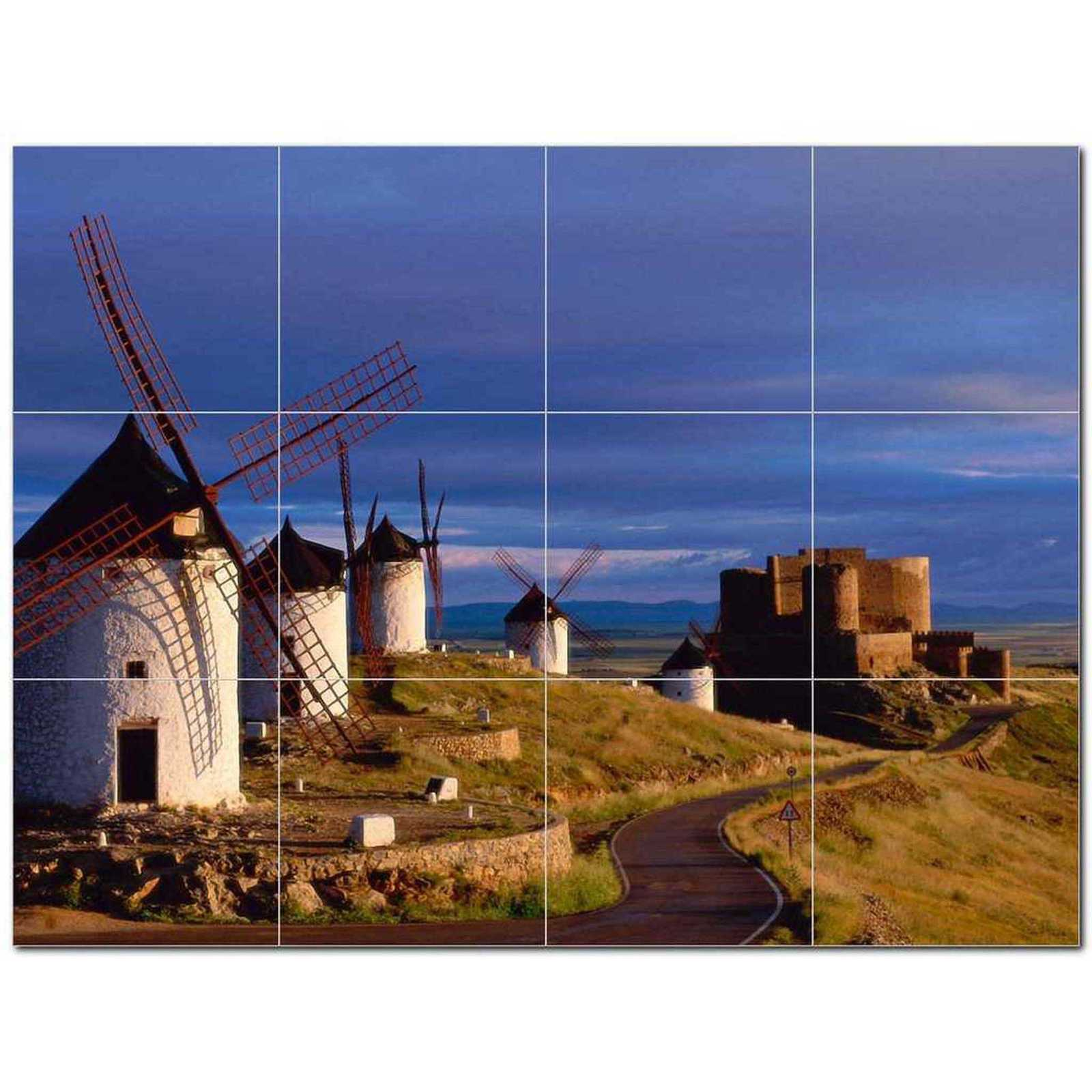 Primary image for Windmill Photo Ceramic Tile Mural Kitchen Backsplash Bathroom Shower BAZ406332