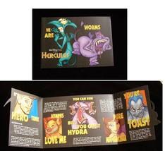 Disney Hercules Promo Brochure Foldout - $18.99