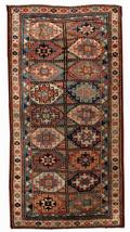 Handmade antique Caucasian Kazak Mohan rug 3.9' x 7.8' (119cmx237cm) 188... - $4,940.00