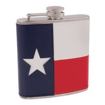 Metal Flask, 6oz Texas Flag Small Stainless Steel Pocket Flask With Leather - €27,12 EUR