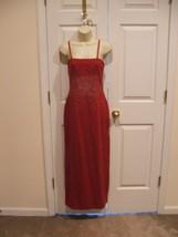 New In Pkg Newport News STRAPLESS/STRAPS Built In Bra Maxi Dress Size 8 - $59.39