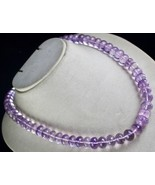 PINK AMETHYST BEADS FACETED CUT 1 LINE 704 CARATS GEMSTONE LADIES NECKLACE - $152.00