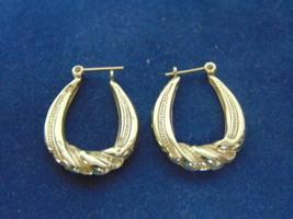 Womens Vintage Estate 14K Yellow Gold Hoop Earrings 1.7g E2125 - $80.00