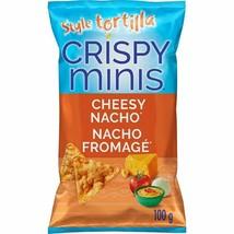 2 Crispy Minis Tortilla Style Cheesy Nacho RICE CHIPS 100g/3.52oz Canada FRESH - $15.79