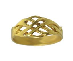 New Endless Eternal Knot Tibetan Buddhism Sanskrit Tibetan 24K Gold Plat... - $22.91