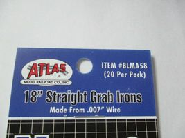 """Atlas # BLMA58 18"""" Straight Grab Irons .007 Wire 20 Pack N-Scale image 4"""
