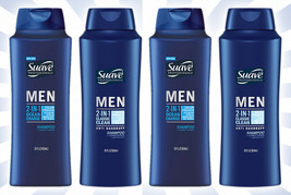 4 Suave Men 2-in-1 Shampoo + Conditioner Ocean Charge & Classic Clean 28 OZ - $28.21