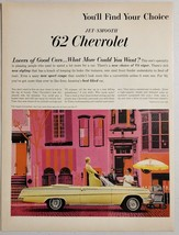 1962 Print Ad The '62 Chevrolet Impala Convertible Chevy Hot Dog Cart Ve... - $16.81
