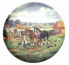 Home In The Fields The Village Shires Stan Mitchell Horse Plate Collector Plate - $38.24