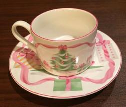 SANGO HOME FOR CHRISTMAS HOLIDAY COFFEE CUP SAUCER SETS 4 PRESENTS #4829... - $16.82