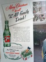7-Up 2pg Christmas Carolers Christmas Magazine Advertising Print Ad Art ... - $15.99