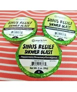 3 ~ Ginger Lily SHOWER BLAST SINUS RELIEF Bombs Aromatherapy Essential O... - $12.86