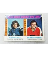 """OPC """"1974 GOALS AGAINST LEADERS"""" FLYERS FAVELL & PARENT CARD! EX. HOF 19... - $9.62"""