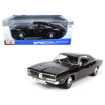 1969 Dodge Charger R/T Black 1/18 Diecast Model Car by Maisto 31387BLK - $46.95