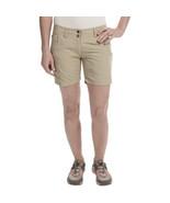 NWT EXOFFICIO Nomad shorts 2 women's khaki water resistant hiking climbi... - $48.49