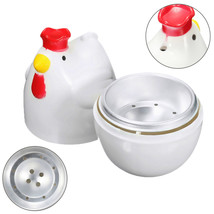 Home Chicken Shaped Microwave 1 Egg Boiler Steamer Cooker Kitchen Cooking Gadget - $9.98