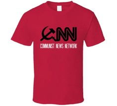 CNN Communist News Network T Shirt Fake News Media Novelty Gift Clothing... - $12.84+