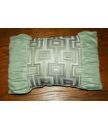 Light Green Abstract Print Throw PIllow  17 x 11 - $24.95