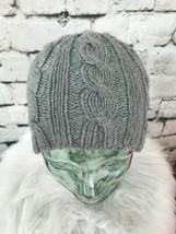 Unisex One Sz Hat Gray Twisted Knit Beanie Skull Cap Warm Winter - $11.88