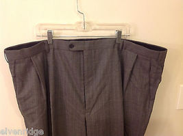 Adolfo Big and Tall 2-Piece Suit Set Intermediate Charcoal Gray with Pinstripes image 4