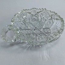 ABP AMERICAN BRILLIANT CUT GLASS CANDY NUT NAPPY DISH  - $5.89
