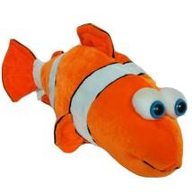 "Six Flags Texas Clown Fish Orange White Plush Stuffed Animal 17"" - $15.84"